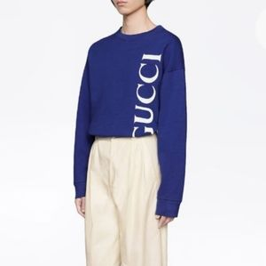 Gucci royal blue sweater shirt XS